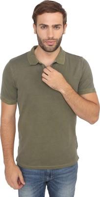 Calvin Klein Solid Men's Polo Neck Green T-Shirt