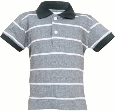 Most Wanted Striped Boy's Polo Neck Multicolor T-Shirt