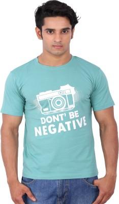 Rat Trap Printed Men's Round Neck Green T-Shirt