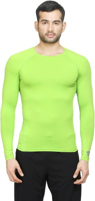 Armr Solid Men's Round Neck Green T-Shirt