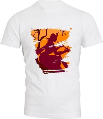 Brandpd Graphic Print Men's Round Neck White T-Shirt