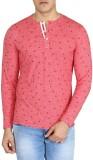 Easies Printed Men's V-neck Red T-Shirt