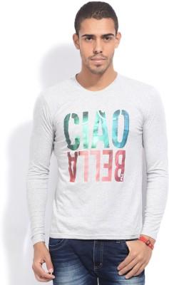 Fila Printed Men's Round Neck Grey T-Shirt