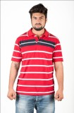 UFC Mart Printed Men's Polo Neck Red T-S...