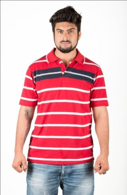 UFC Mart Printed Men's Polo Neck Red T-Shirt