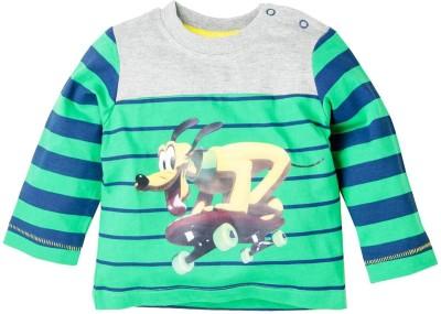 Walt Disney Printed Baby Boy,s Round Neck Green T-Shirt