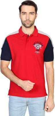 Van Heusen Solid Men's Polo Neck Red T-Shirt
