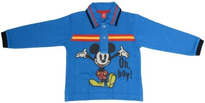 SPARK Printed Boy's Polo Neck T-Shirt