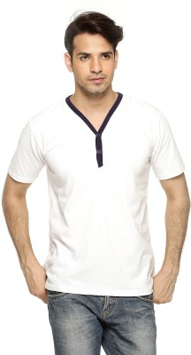 Being Crazy Solid Men,s Henley T-Shirt