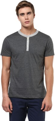 Aventura Outfitters Solid Men,s Henley Grey T-Shirt