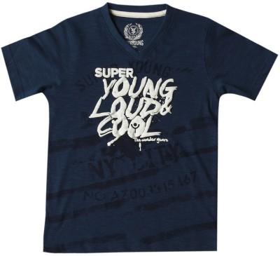 SuperYoung Printed Boy's V-neck T-Shirt