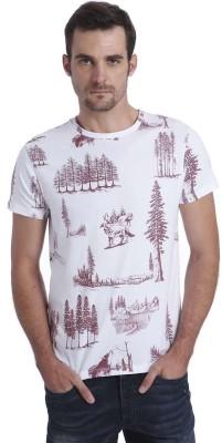 Jack & Jones Printed Men's Round Neck White T-Shirt