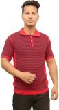Protex Striped Men's Polo Neck Red T-Shi...