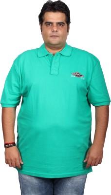 Xmex Solid Men's Polo Neck Light Green T-Shirt