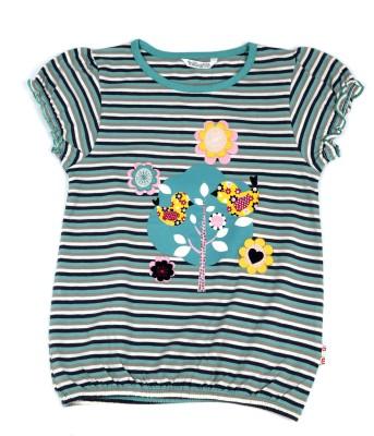 Milou Striped Girl's Round Neck T-Shirt