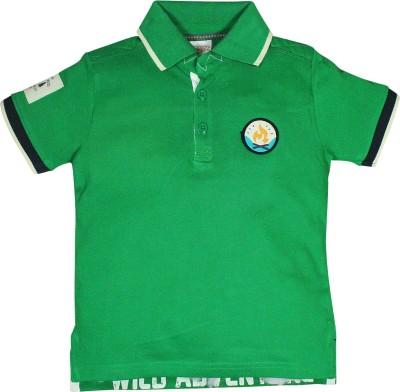 FS Mini Klub Printed Boy's Polo Green T-Shirt