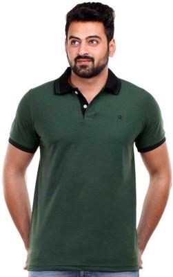 Clotone Solid Men's Polo Neck Green T-Shirt