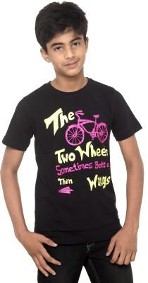 Menthol Printed Boy's Round Neck T-Shirt