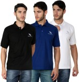 American Cult Solid Men's Polo Neck Whit...