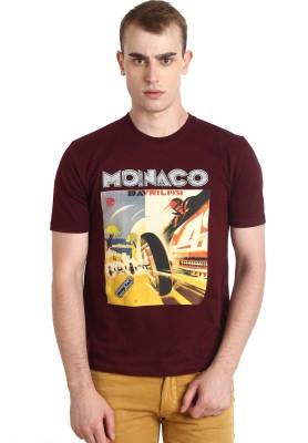 Teen Tees Graphic Print Men,s Round Neck Maroon T-Shirt