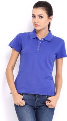 HRX Solid Women's Blue T-Shirt