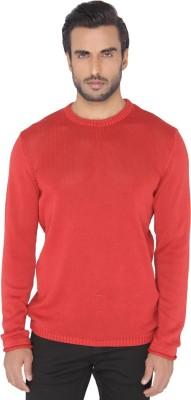 Jadeblue Self Design Men's Round Neck Red T-Shirt