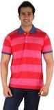 CFT Striped Men's Polo Neck Multicolor T...