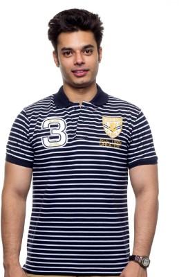 SPW Striped Men's Polo Dark Blue, White T-Shirt
