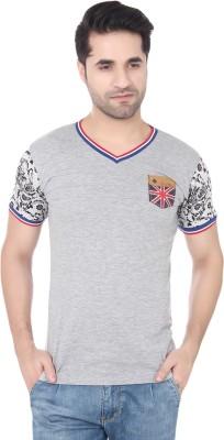 Buff Solid Men's V-neck T-Shirt