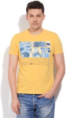 Lee Men's Yellow T-Shirt