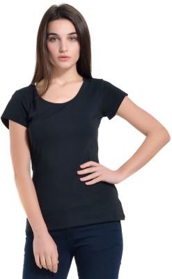 Kazo Solid Women,s Round Neck T-Shirt