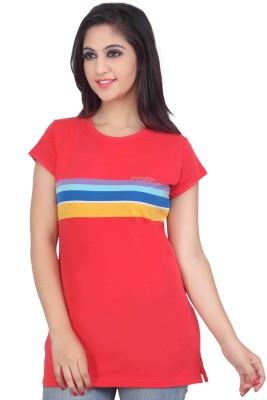 Prova Striped Women's Round Neck Multicolor T-Shirt