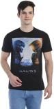 Halo 5 Printed Men's Round Neck Black T-...