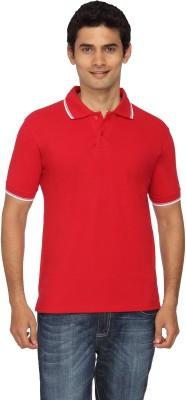 Scottish Solid Men's Polo Red, White T-Shirt