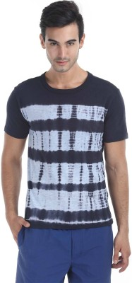 Zobello Self Design Men's Round Neck Multicolor T-Shirt