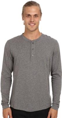 Nicewear Solid Men's Henley Grey T-Shirt