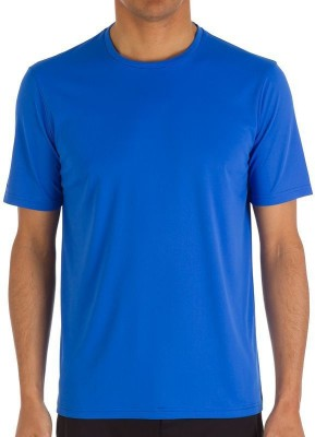 Tribord Solid Men's Round Neck Blue T-Shirt