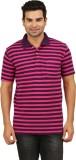 Menthol Striped Men's Polo Neck Multicol...