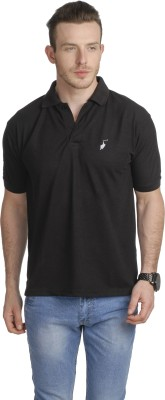 Green Wich United Polo Club Solid Men's Polo Black T-Shirt