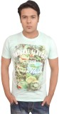 LofoX Printed Men's Round Neck Green T-S...