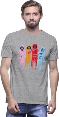 UPTOWN18 Graphic Print Men,s Round Neck Multicolor T-Shirt