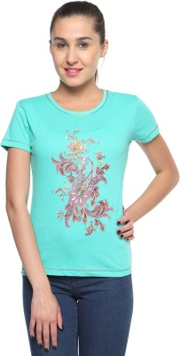 Topsy Printed Women,s Round Neck T-Shirt