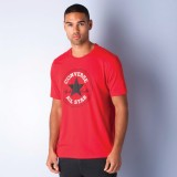 Converse Solid Men's Polo Neck Red T-Shi...