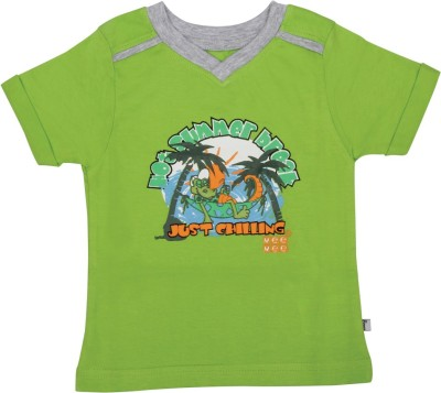Mee Mee Solid Baby Boy's V-neck Green T-Shirt
