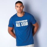 Converse Solid Men's Polo Neck Blue T-Sh...