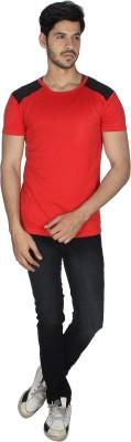 Grapes Plus Solid Men's V-neck Red T-Shirt