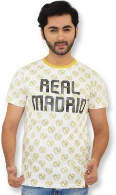 Real Madrid C.F. Printed Men's Round Neck White T-Shirt