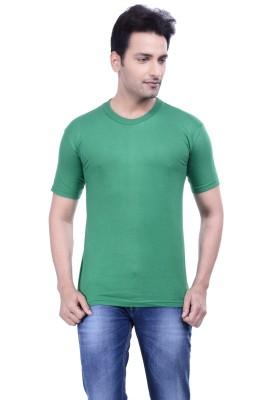 MKM Solid Men's Round Neck Green T-Shirt