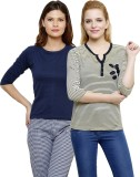 Limeberry Solid Women's V-neck Yellow, D...