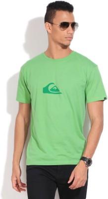 Quiksilver Solid Men's Round Neck Green T-Shirt